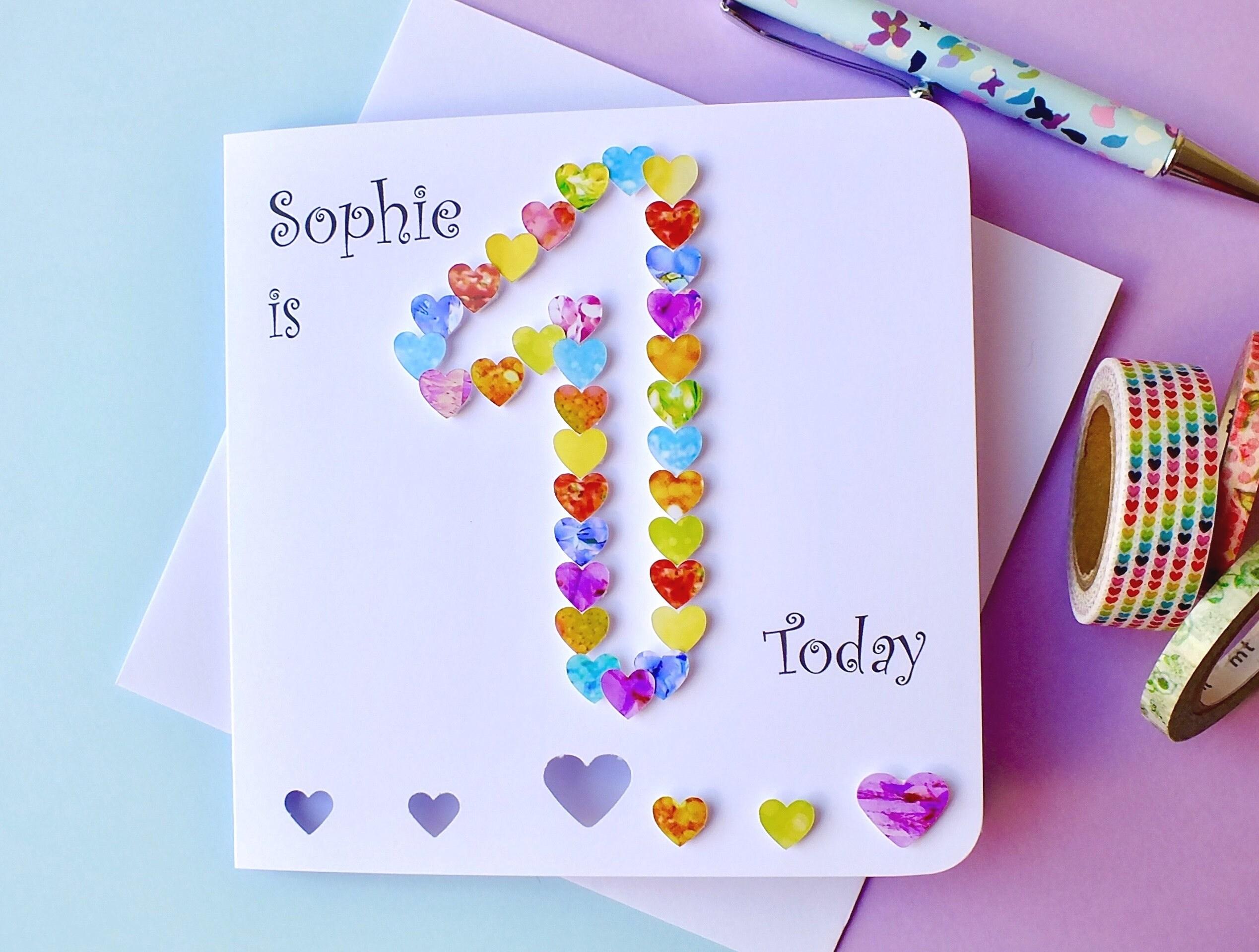 1st Birthday Card Custom Personalised First Birthday Card