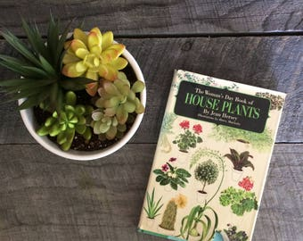 vintage book- the woman's day book of house plants