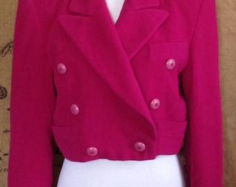 1980's Escada Margaretha Ley cropped short jacket blazer