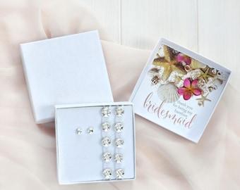Beach Wedding Bridesmaid Gift Set- Bridesmaid Gift Box- Maid of Honor Gift Box- Barefoot Sandals- Thank you for being my Barefoot Bridesmaid