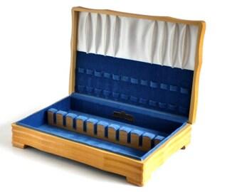 Empty Silverware Box Wood Flatware Case Pacific Silvercloth