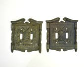 1960s Fyfe and Drum 1776 Double Light Switch Plate Covers by American Tack and HDWE Co.