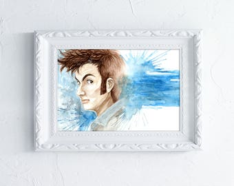 Tenth Doctor - Art Print - Illustrated by Jessica Thomas