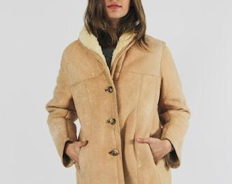 60s Caramel Sheepskin Coat