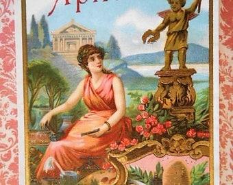 Aplicado Muse Greek Cigar Label Pre 1920s Lithograph NOS