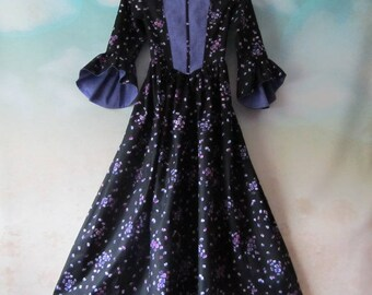 Girl's Renaissance Woodland Costume Dress: Renaissance Festival, OctoberFest, 19th Century, Gothic - All Cotton, Size 10, Ready To Ship Now