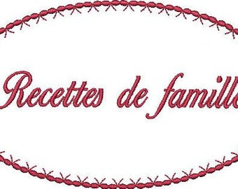 French Machine Embroidery Design Instant Download