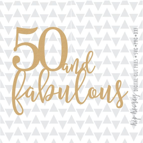 50th And Fab: Fifty And Fabulous Fiftieth 50th Birthday Cake Topper