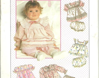 Vintage Simplicity Pattern 9351  Baby Girl Tops, Dress and Pants (12 month) UNCUT
