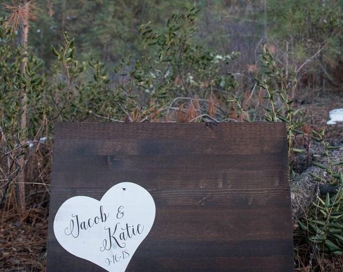 Wedding Guest Book Alternate // Wood Guest Book Wedding // Rustic Wood Wedding Sign // Personalized Wedding