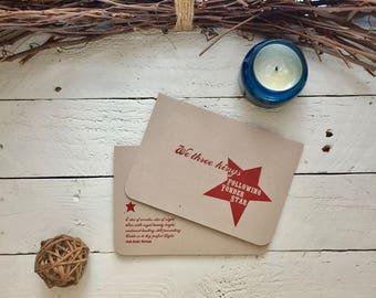 CHRISTMAS Holiday, Christmas Greetings, 6 Christmas Cards, We Three Kings - Follow the Star, Christmas Hymn