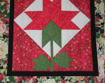 Red Peony Barn Quilt