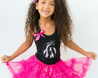 Girls 6th Birthday Outfit, Zebra Themed Party, Zebra Birthday Party, 6th Birthday Girl, Girls Birthday Zebra Black Tank Personalized Shirt