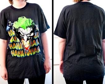 80s Batman Joker shirt - Vintage DC Comics Haha tee - RARE Screen Stars tshirt