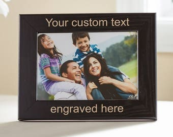 Create Your Own Personalized Picture Frame (Black): Design Your Own Picture Frame, Custom Engraved Picture Frame, Custom Frame Christmas