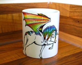 Rainbow Unicorn Charger Mug