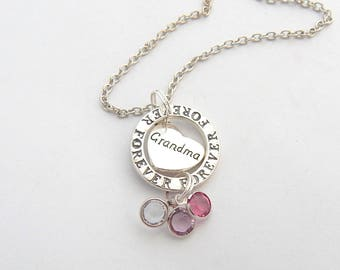 Personalized Grandma Necklace-FAMILY Tree NECKLACE-Family tree Jewelry-Gifts for Grandma Grandmother Gift-Gift from Grandkids-Legacy Gift