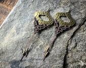 Macrame boho elven earrings Elven earrings boho bohemian gypsy elven women jewelry by Creations Mariposa