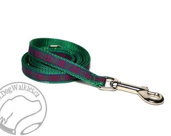 Lindsay Clan Tartan Leash // Matching Tartan Dog Leash in all widths // custom lengths // Plaid Leashes // Tartan Lead // Handmade Leash