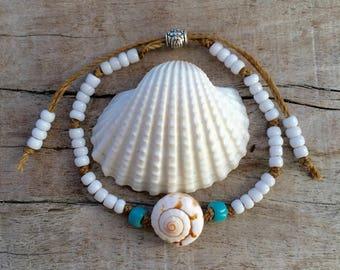 beach bracelet, shell beach jewelry, boho style, gift for her