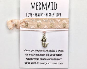 wish bracelet, mermaid jewelry, beach anklet, party favour, friendship bracelet