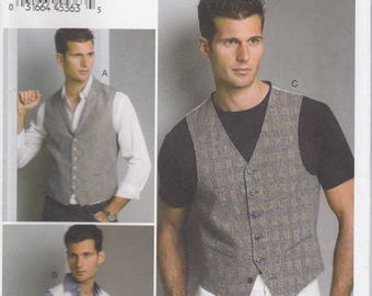 Men's Vest Pattern Vogue 8887 Sizes 34 - 40 Uncut