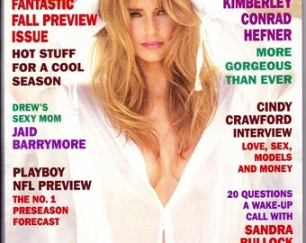 Vintage Playboy Magazine September 1995, Fall Preview, Drew Barrymore's, Mom, NFL Preview, Kimberley, Conrad Hefner, Vintage Playboy