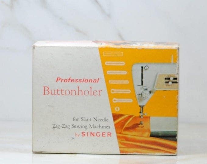 Vintage Singer Professional, Buttonholer, Singer Sewing, Slant Needle, Zig-Zag, Sewing Machines, 24 Piece, Part No, 102577, Button Holes