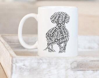 Dachshund Custom Coffee Mug | Weiner Dog Gifts | Dachshund Silhouette | Personalized Dachshund Gifts | Pet Memorial Gifts | Custom Doxie Mug