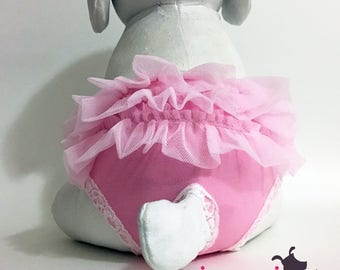 Pink Ballerina Tutu Female Dog Diaper