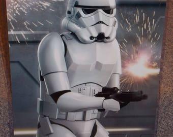 Star Wars Stormtrooper Glossy Art Print 11 x 17 In Hard Plastic Sleeve