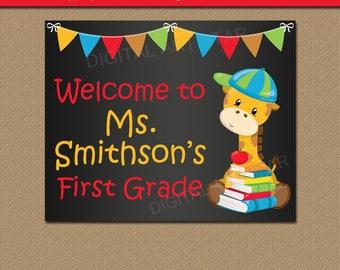 1st Day of School Sign, Chalkboard Sign, Teacher Digital Download, PRINTABLE Teacher Sign, Teacher Ideas, Teacher Resources, Photo Prop Idea