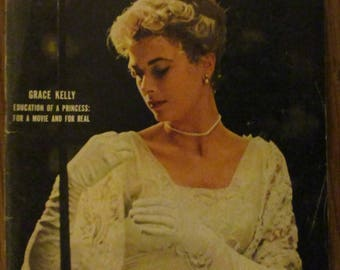 April 9, 1956 LIFE MAGAZINE Grace Kelly Winston Churchill Afghanistan