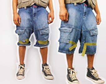 90s jean shorts men