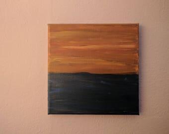 Sound Storm - 8x8 Original Acrylic Painting on Canvas