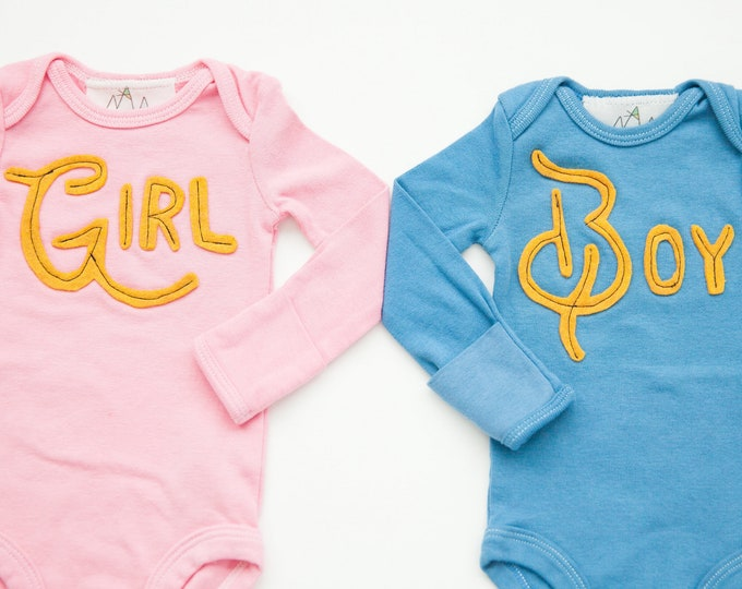 Swanky Shank Hand-Dyed Gender Reveal Bodysuit; You choose Color; One Bodysuit
