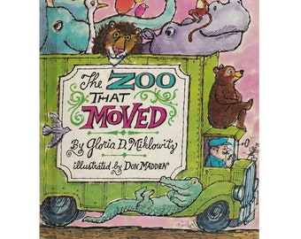 The Zoo That Moved childrens picture book, Don Madden illustrations, Los Angeles Zoo, zoo animals, wild animals, zoo book, picture book
