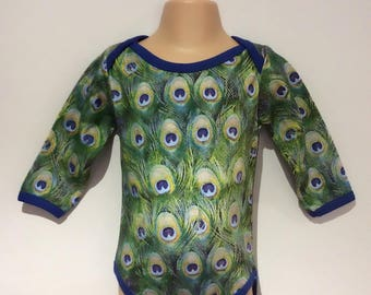 Cool Baby Girl Clothes, Peacock Print Baby, Peacock Print, Baby Girl Gift, Baby Shower Gift Girl, Baby Girl Bodysuit, Baby Girl Outfit