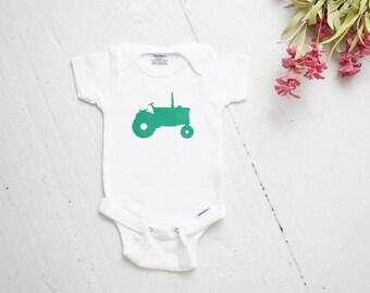 Tractor ONESIE®, Coming Home Outfit, Baby Shower Gift, Baby Outfit, Baby Baby Onesie, Baby Gift, Future Farmer Onesie, Newborn Boy Onesie