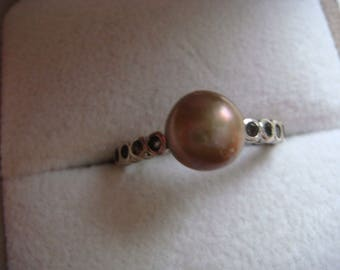 Stunning Gold Pearl Ring