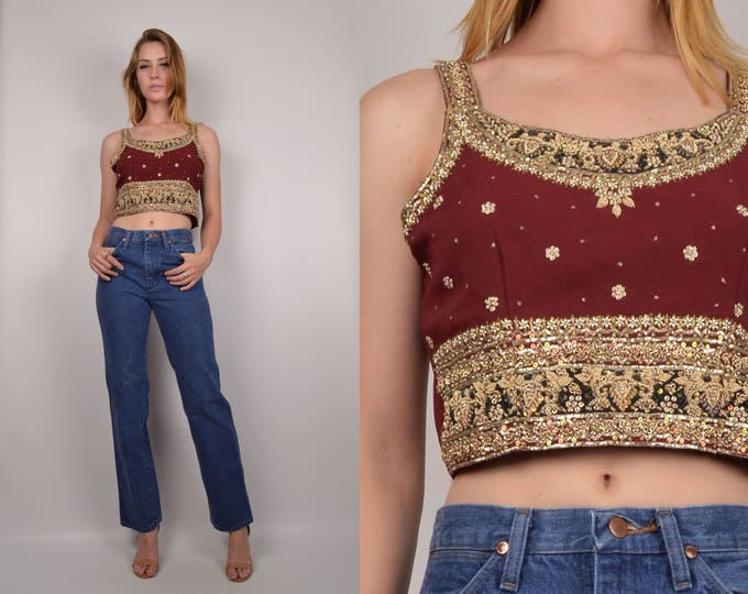 Intricately Beaded India Crop