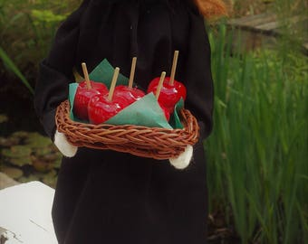 Byers Choice Doll, Witch w/Candy Apple Basket, QVC Purchase Only, Hard to Find, Signed