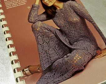 RETRO FASHION CROCHETING the New Look 1970 vintage Book 70s