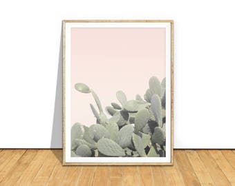 Cactus Print, Cacti Print, Desert Wall Art Poster, Minimalist Art Printable Download, Pink Modern Boho, Pastel Southwestern Decor, c2c2c2