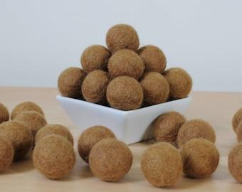 Felt Balls: PEPPERCORN, Felted Balls, DIY Garland Kit, Wool Felt Balls, Felt Pom Pom, Handmade Felt Balls, Brown Felt Balls, Brown Pom Poms