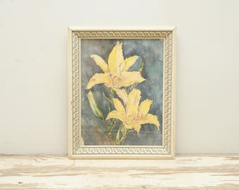 Original Painting Watercolor Lilies