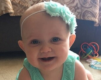 Seafoam Green Headband, Baby Headbands, Baby Girl Headbands, Baby Girl Headbands, Infant Headbands, Baby Bows