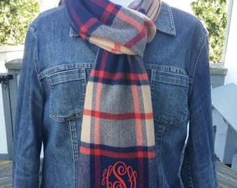 Winter Scarf with monogram - Free Shipping - 34 colors