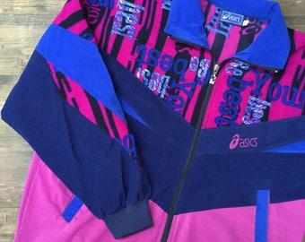 90s Asics Fleece Track Jacket