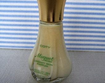 Vintage COTY  MUGUET Des Bois Creamy Skin Parfum Collectible Perfume Bottle
